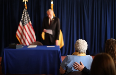 """Gov. Phil Murphy signed the """"Aid in Dying"""" law in April allowing terminally ill people to obtain a prescription to end their lives."""